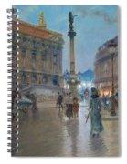 Place De L Opera In Paris Spiral Notebook