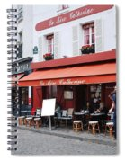 Place Du Tertre In Paris Spiral Notebook