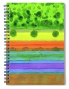 Plain With Red Field Spiral Notebook