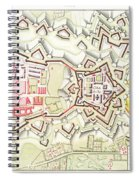 Plan Of Part Of The City And Citadel Of Strasbourg Spiral Notebook