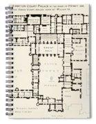 Plan Of Principal Floor Of Hampton Spiral Notebook