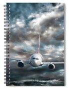 Plane In Storm Spiral Notebook