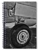 Plane - Landing Gear In Black And White Spiral Notebook