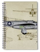 Planes Of Fame A-59 Airacomet - Profile Spiral Notebook