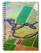 Planet Art Colorful  Midwest Aerial Spiral Notebook