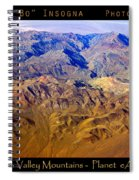 Planet Art Death Valley Mountain Aerial Spiral Notebook