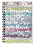 Plans I Have For You Stripes Spiral Notebook