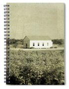 Plantation Church - Sepia Texture Spiral Notebook