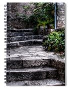 Plants Grow In The Uneven Stairs Climbing Towards The Tower Spiral Notebook