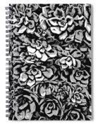 Plants Of Black And White Spiral Notebook