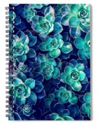 Plants Of Blue And Green Spiral Notebook