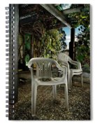 Plastic Chairs Spiral Notebook