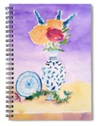 Plate And Flowers Spiral Notebook