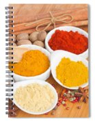 Plates Of Spices  Spiral Notebook