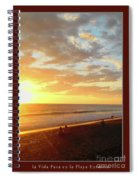 Playa Hermosa Puntarenas Costa Rica - Sunset A One Detail Two Vertical Poster Greeting Card Spiral Notebook