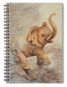 Playful Elephant Baby Spiral Notebook