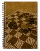 Playing Checkers On A Rug Spiral Notebook
