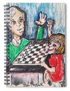 Playing Checkers Spiral Notebook