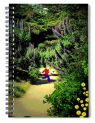 Playing In The Garden Five Spiral Notebook