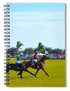 Playing Polo Spiral Notebook