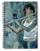 Playing The Flute Spiral Notebook