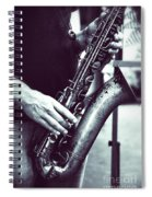 Playing The Saxophone Spiral Notebook