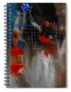 Playing Volley Spiral Notebook