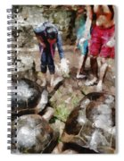 Playing With Giant Tortoises Spiral Notebook