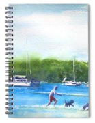 Playing With The Dogs At Rose Bay Spiral Notebook