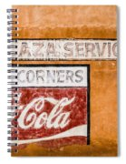 Plaza Corner Coca Cola Sign Spiral Notebook