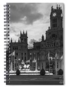 Plaza De Cibeles Fountain Madrid Spain Spiral Notebook