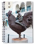 Nude On Rooster Spiral Notebook