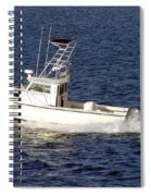 Pleasure Fishing Boat Spiral Notebook
