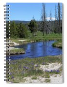 Pleated Gentians Beside Iron Creek In Black Sand Basin Spiral Notebook
