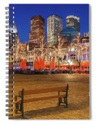 Plein Square At Night - The Hague Spiral Notebook