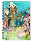 Plethora Of Pelicans Spiral Notebook