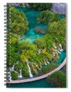 Plitvice Boardwalk Spiral Notebook