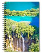 Plitvice Lakes National Park Vertical View Spiral Notebook
