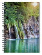 Plitvice Sunburst Spiral Notebook