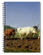 Ploughing In Nivernais Spiral Notebook