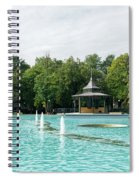 Plovdiv Singing Fountains - Bright Aquamarine Water Dancing Jets And Music Spiral Notebook