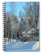 Plowed Winter Street In Sunlight Spiral Notebook