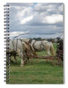 Plowing In Lancaster County Spiral Notebook