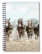Plowing The Fields Spiral Notebook
