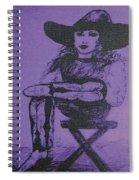 Plum Cowgirl Spiral Notebook