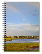 Plum Island Rainbow Spiral Notebook