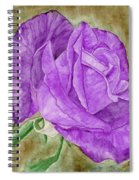 Plum Passion Rose Spiral Notebook