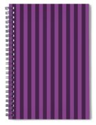 Plum Purple Striped Pattern Design Spiral Notebook