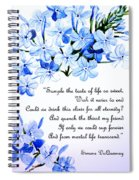 Plumbago   Poem Spiral Notebook