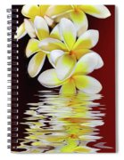 Plumeria Reflections By Kaye Menner Spiral Notebook